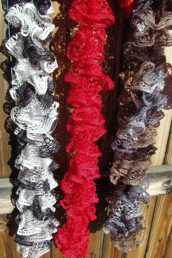Ruffle scarf differences in length for \