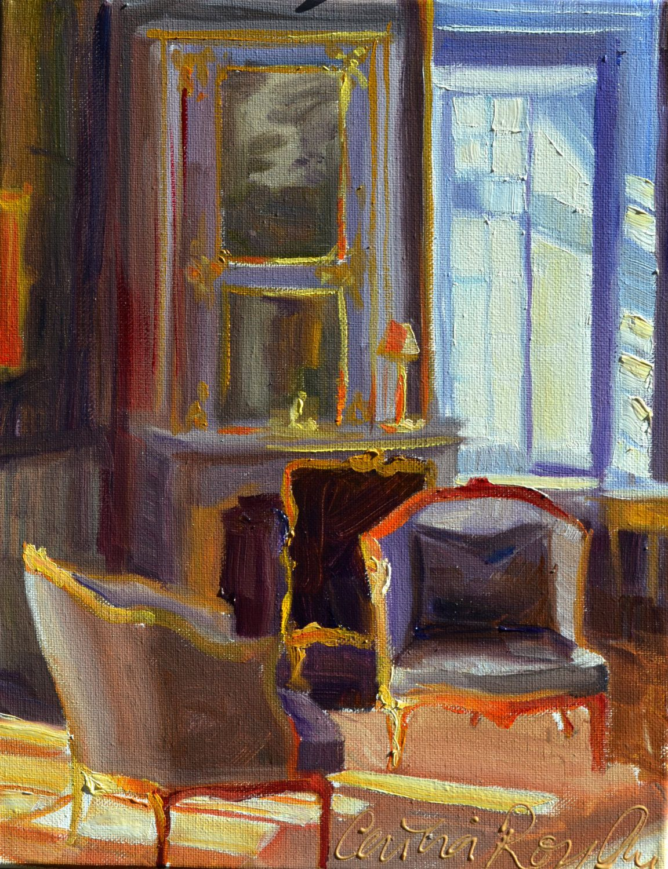 Interieur kunst  Art Print des Original-Gemälde von CHATEAU-Interieur-Kunst ...