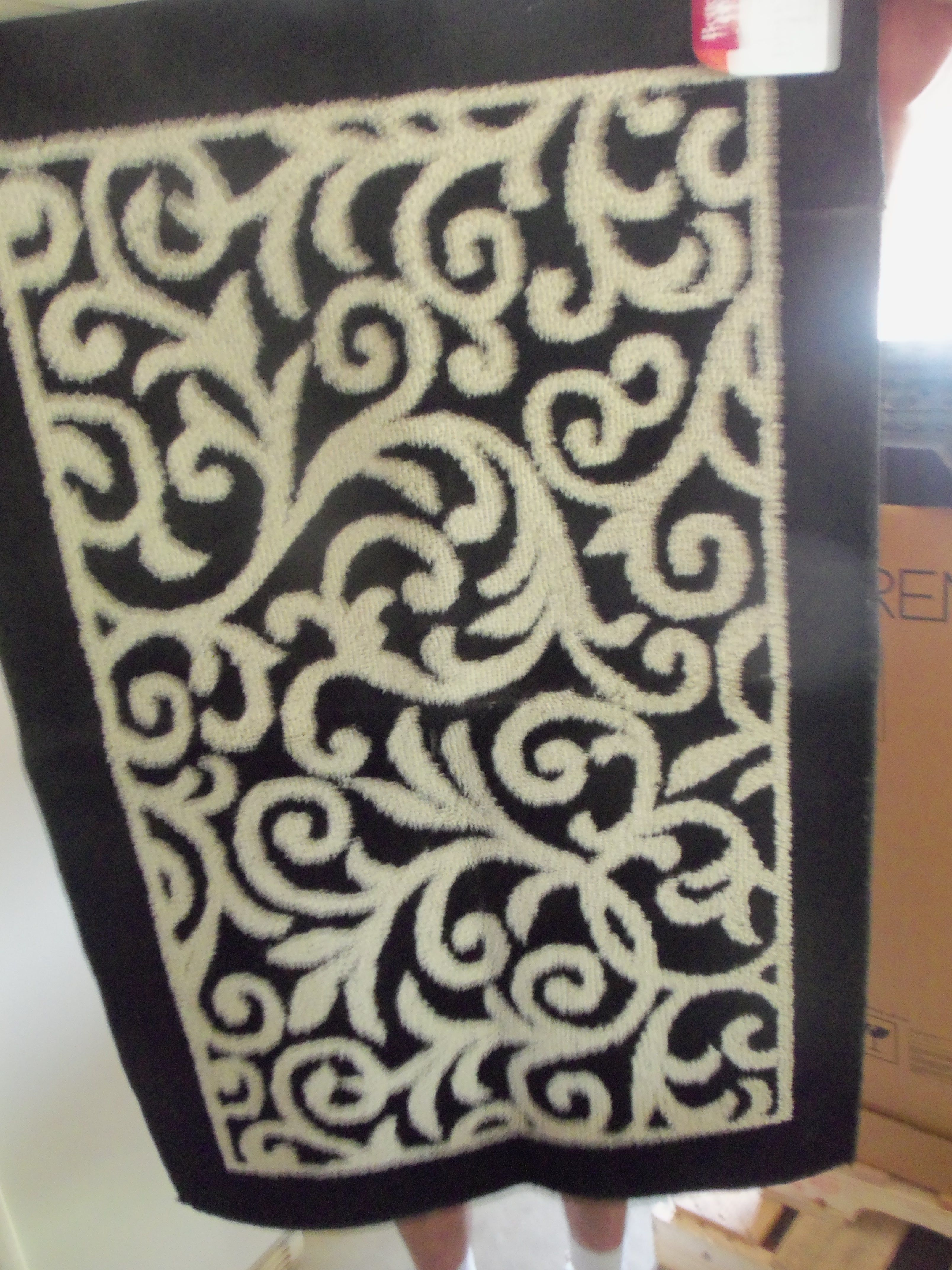 Rug Bought At Ollie S Outlet Store Animal Print Rug Printed Rugs Bath Remodel