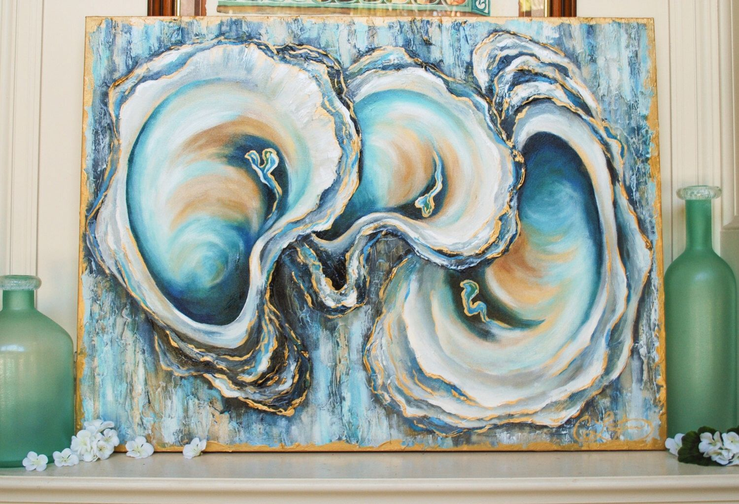 40x30 Oyster Painting Deposit By Caseylangteauart On Etsy Https Www Etsy Com Listing 484973023 40x30 Oyster Painting D Painting Louisiana Art Canvas Painting