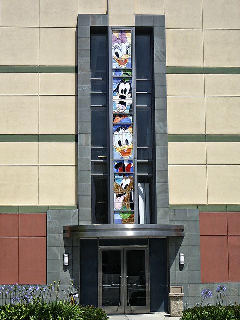 Stained Glass Windows - Walt Disney Studios #Daisy #Daffy #Goofy
