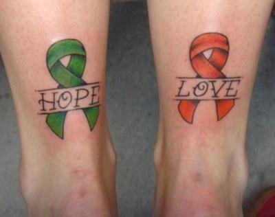 Tattoo Mental Health Green Ribbon
