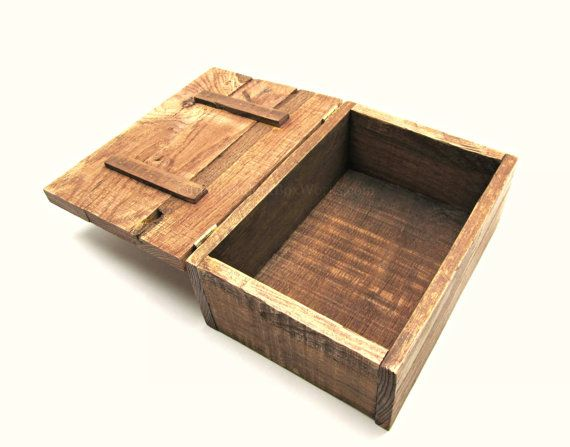 Rustic Reclaimed Pallet Wood Box Photo Storage Or A Unigue Wedding Gift Independentboxworks On Etsy