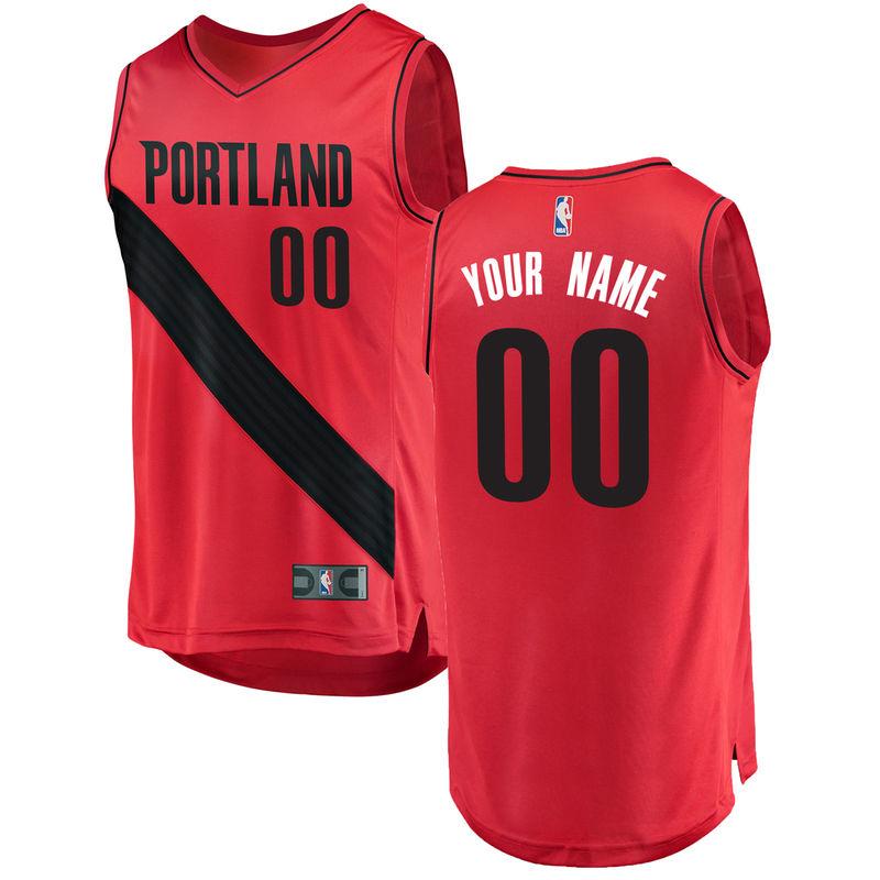 7f6c63496 Portland Trail Blazers Fanatics Branded Fast Break Custom Replica Jersey  Red - Statement Edition