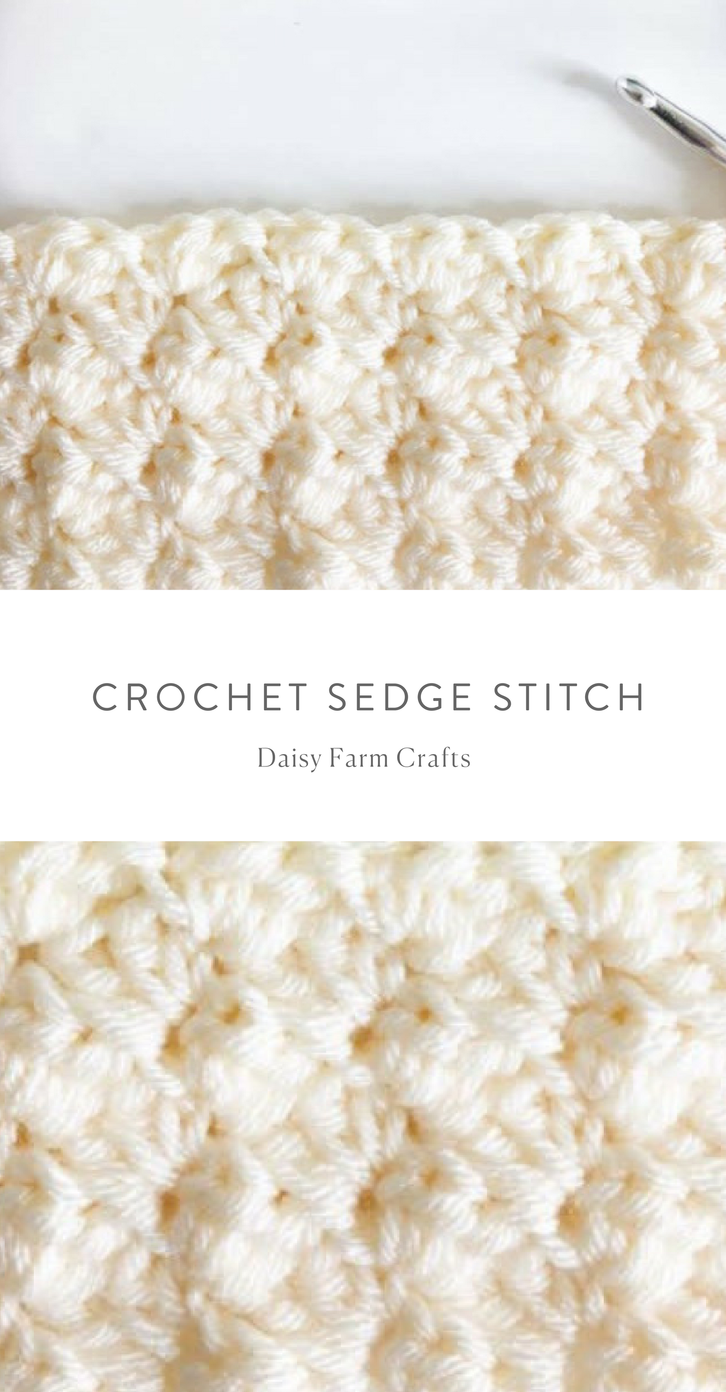 Free Pattern - Crochet Sedge Stitch | Crochet | Pinterest ...