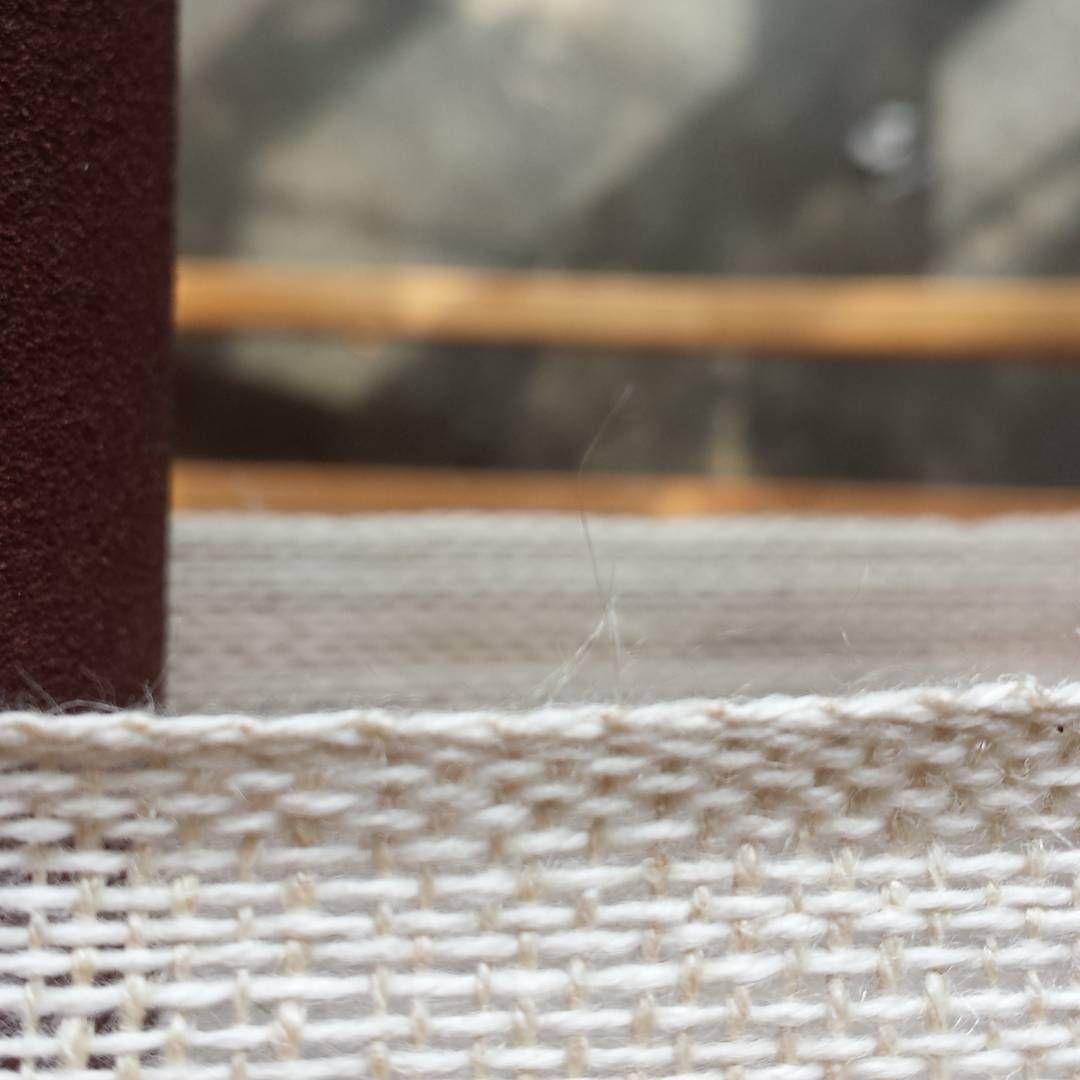 Today #weaving #handwoven #cotton #hemp #weaversofinstagram