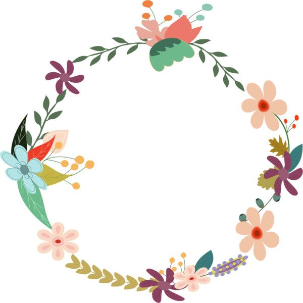 Vintage Floral Wreath Liked On Polyvore Featuring Jackets Borders Circle Circular Filler Picture Frame And Round Clip Art Flower Frame Flower Clipart