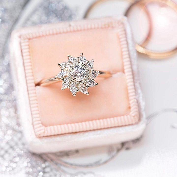 Pinwheel Petite Diamond engagement ring #engagementring #diamond #diamondengagementring #engaged #bridetobe #wedding