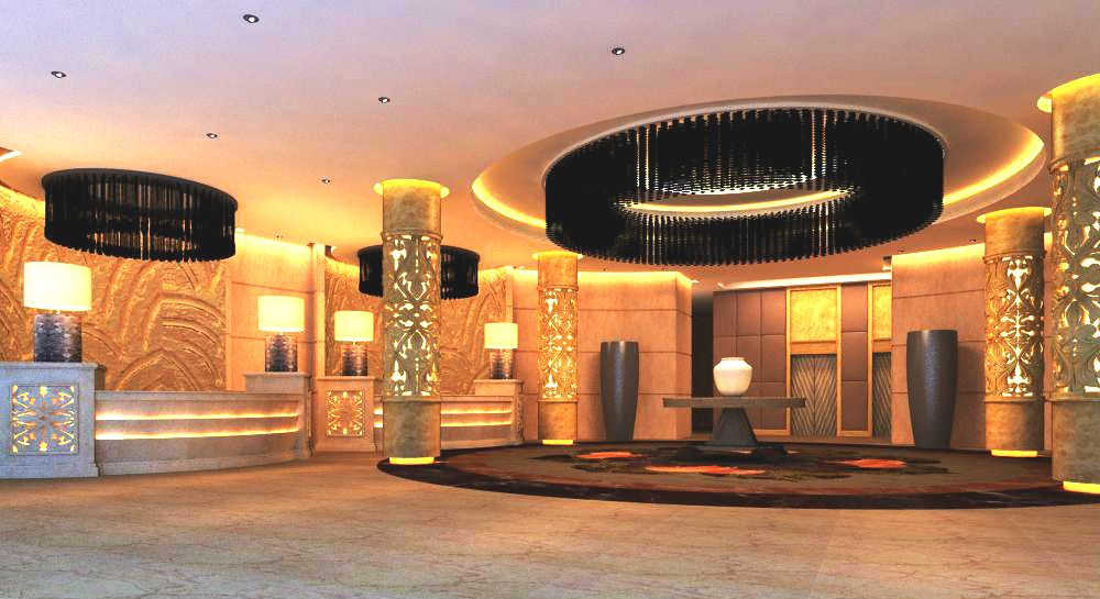 Lobby 049 3D Model Created With VRay And Need This Renderer To Work Correctly Materials Used Textures Light Setup
