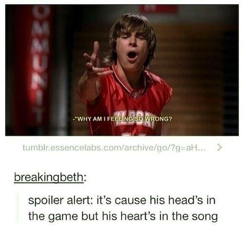 Funny Highschool Meme : Tumblr high school musical best of