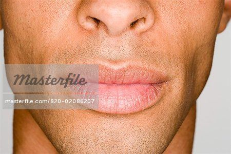 Close-up of man's lips