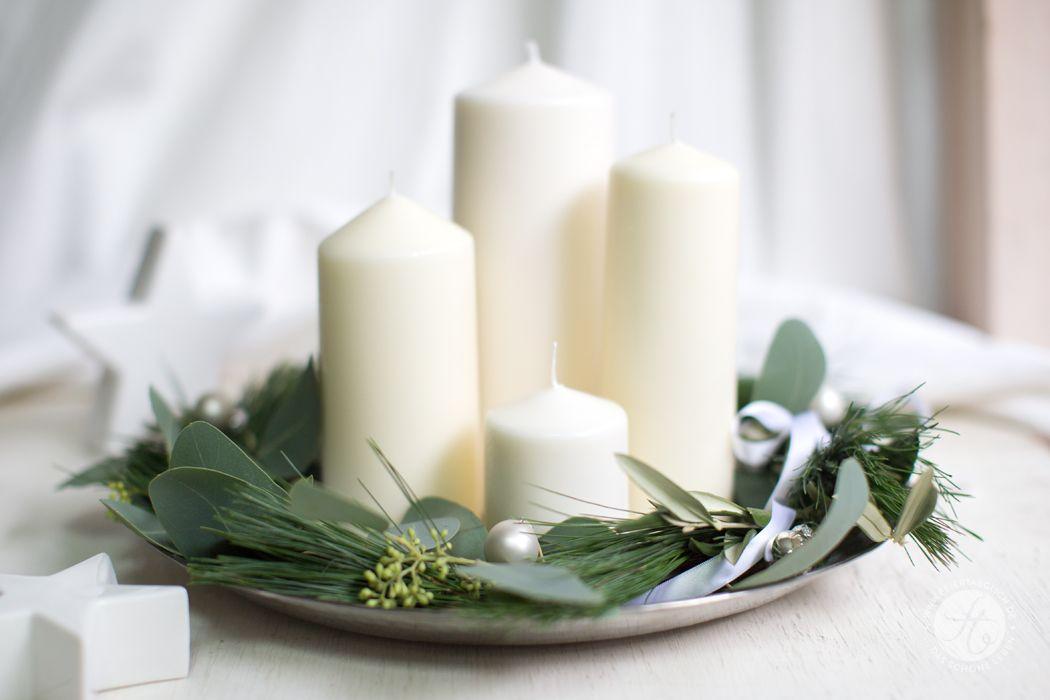 Adventskranz – simpel und pur, auf die letzte Minute – feiertäglich…das schöne Leben #weihnachtlicheszuhause