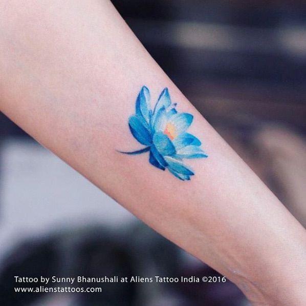 Image Result For Light Blue Flower Tattoo