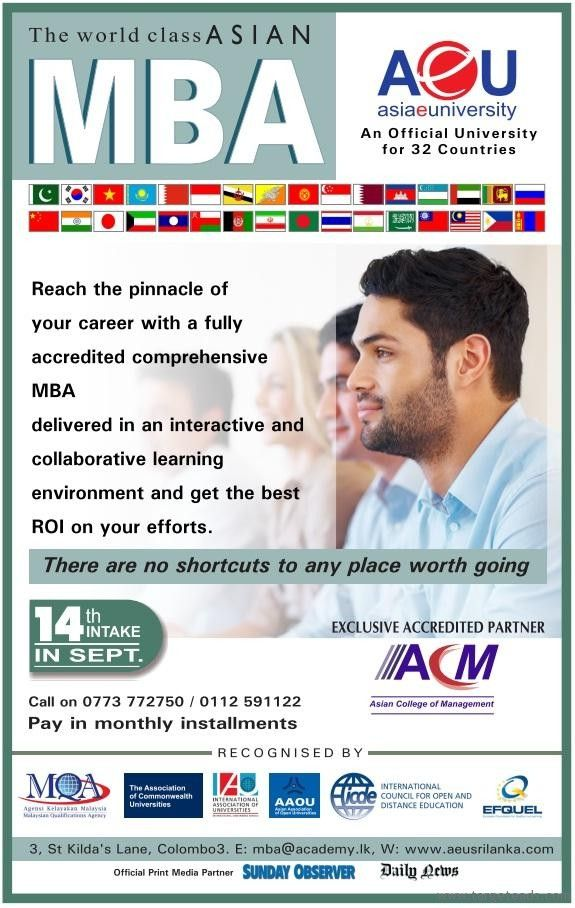 A Global MBA with the Asian perspective – Join the 14th intake in September