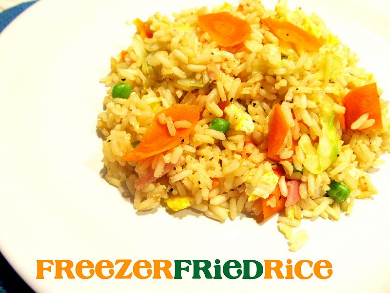 I love recipes that you can make tons of and throw the extra in the lovely little snippets freezer fried rice reheat in the bag and add a little water or butter in case it is a little dry for quick lunches to put in the ccuart Choice Image