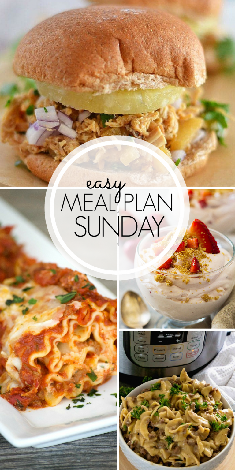 With Easy Meal Plan Sunday Week   Six Dinners Two Desserts A