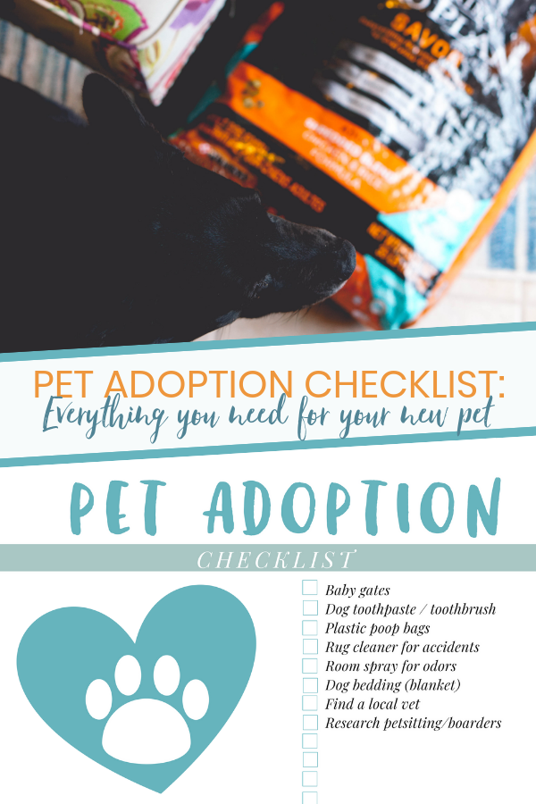 Pet Adoption Supplies Checklist Pet Supplies Plus Pet Adoption