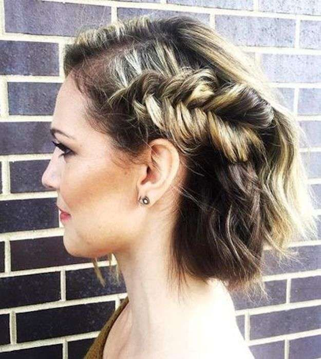 Super dulce peinados graduacion media melena Fotos de estilo de color de pelo - Peinado media melena con maxi trenza   Peinados para ...