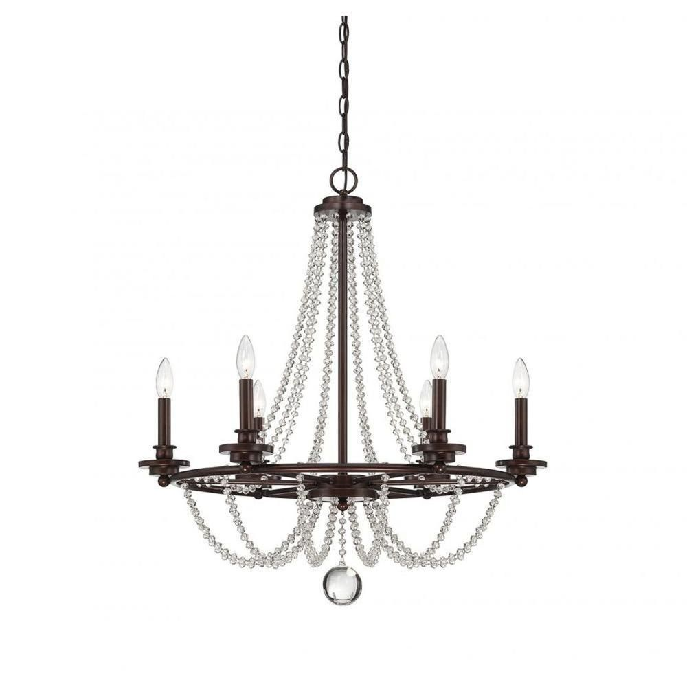 Photo of Filament Design Kevin 6-Light Mohican Bronze Chandelier-CLI-…