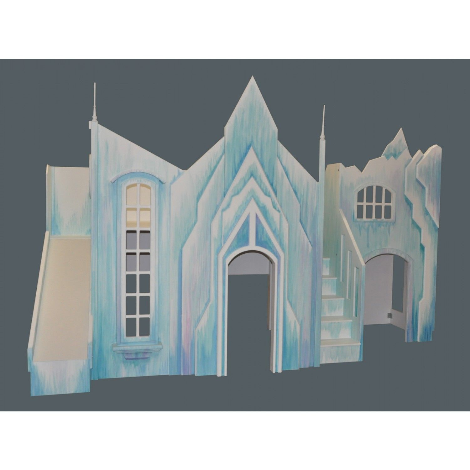 Frozen Castle w Slide Stairs and Optional Playhouse