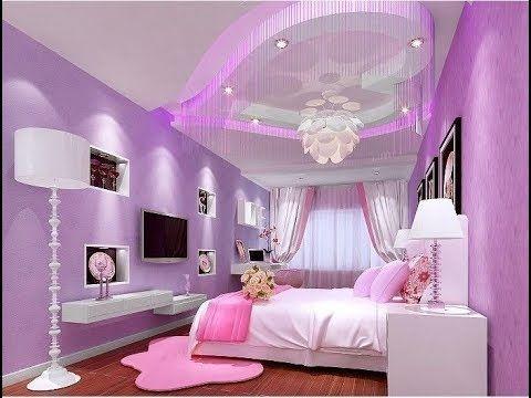 جبسيات غرف نوم للبنات ديكورات جبس بورد بناتي Gypsum Decoration Girls Rooms Youtube Romantic Bedroom Design Country Style Bedroom Ceiling Design Bedroom
