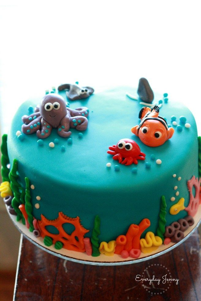 Under The Sea Fondant Cake Finding Nemo Octopus And Crab