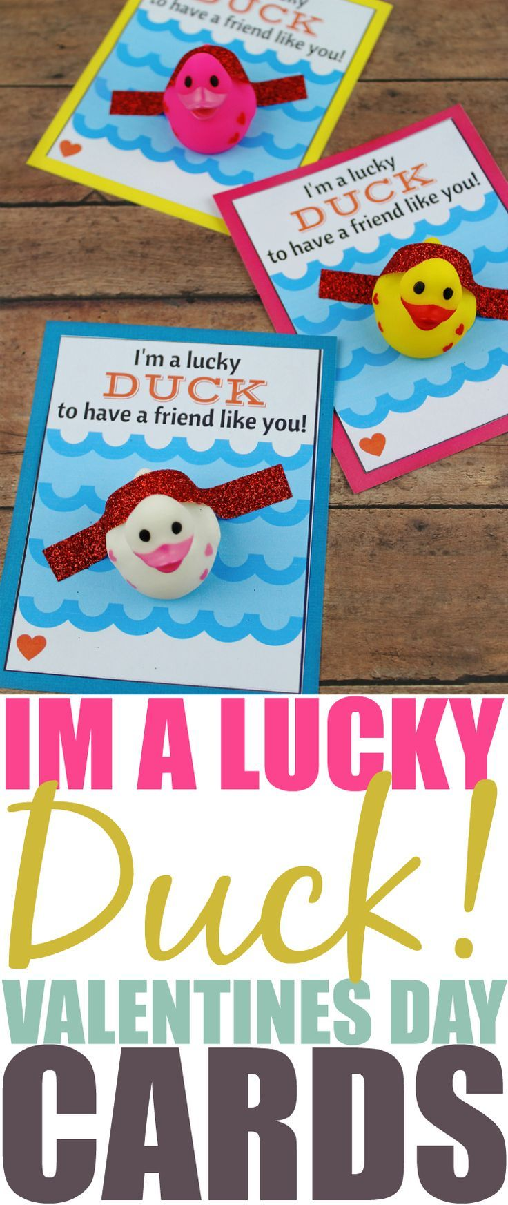 This Lucky Duck Valentine's Day Card DIY is a perfect non-candy option for younger children to hand out to their friends on Valentine's Day. via @xtremecouponmom