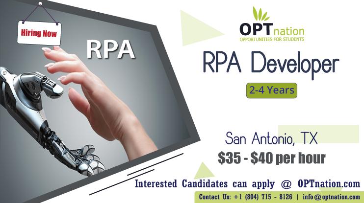 We're Hiring RPA Developer in San Antonio, TX. Build your