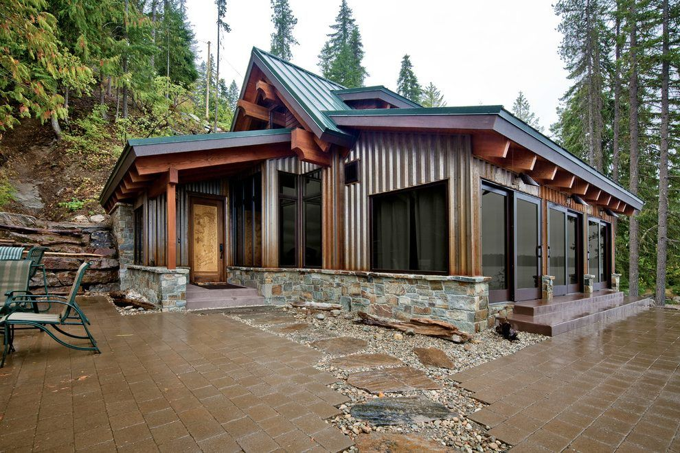 Metal building homes patio contemporary with seattle for Metal building cabin