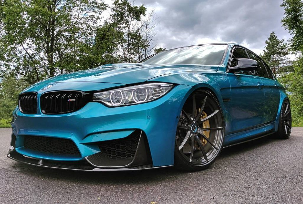 Canadian Bmw M3 Individual With Carbon Add Ones Looks The Part Carscoops Bmw Bmw M3 Bmw Blue