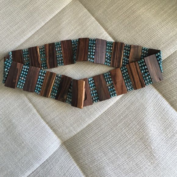 Wood Belt Perfect for skirts. Excellent Used Conditions. All Sizes! Accessories Belts