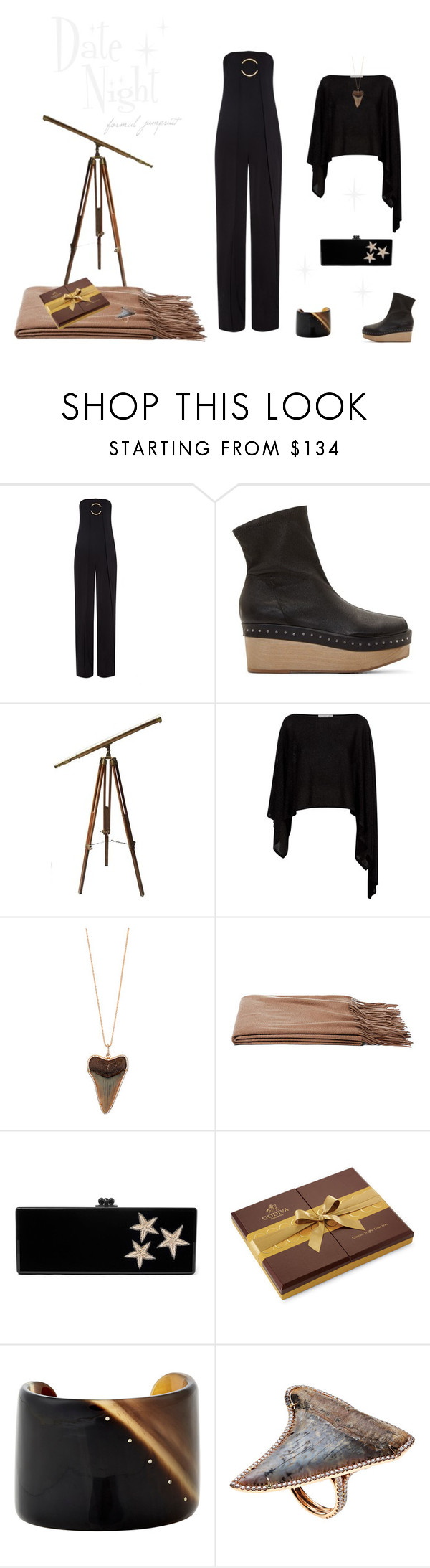 """""""Reeves"""" by southernreef ❤ liked on Polyvore featuring STELLA McCARTNEY, Rick Owens, Damsel in a Dress, Anita Ko, a&R, Edie Parker and Monique Péan"""