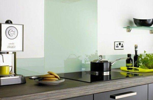 fliesenspiegel küche glas küchenrückwand spritzschutz küche - spritzschutz küche glas