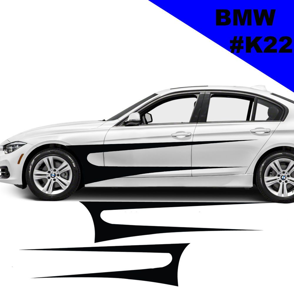 Sports Side Car Stripes Decal Car Graphics Car Stickers For BMW - Sport decal stickers for cars