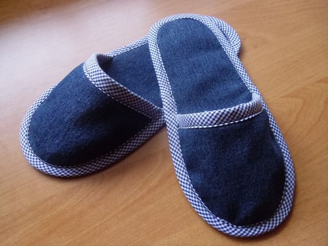Chinelo jeans