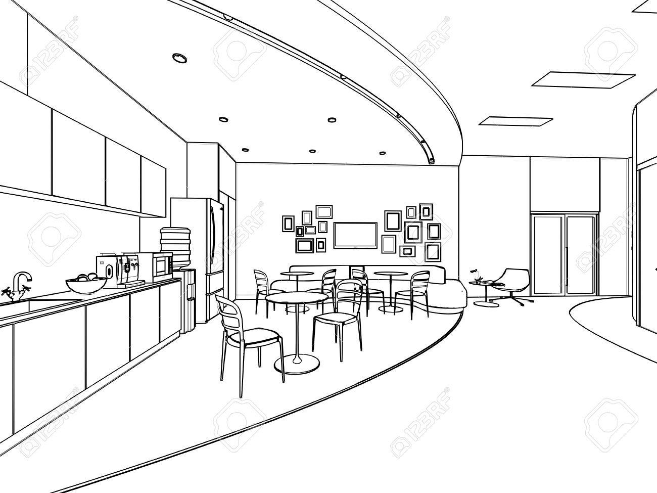 Superb Grundriss Skizze Zeichnung Eines Innenraums