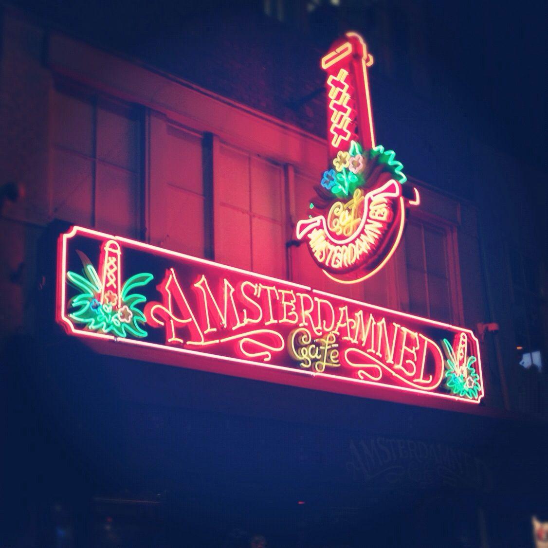 Amsterdam glows in the dark.