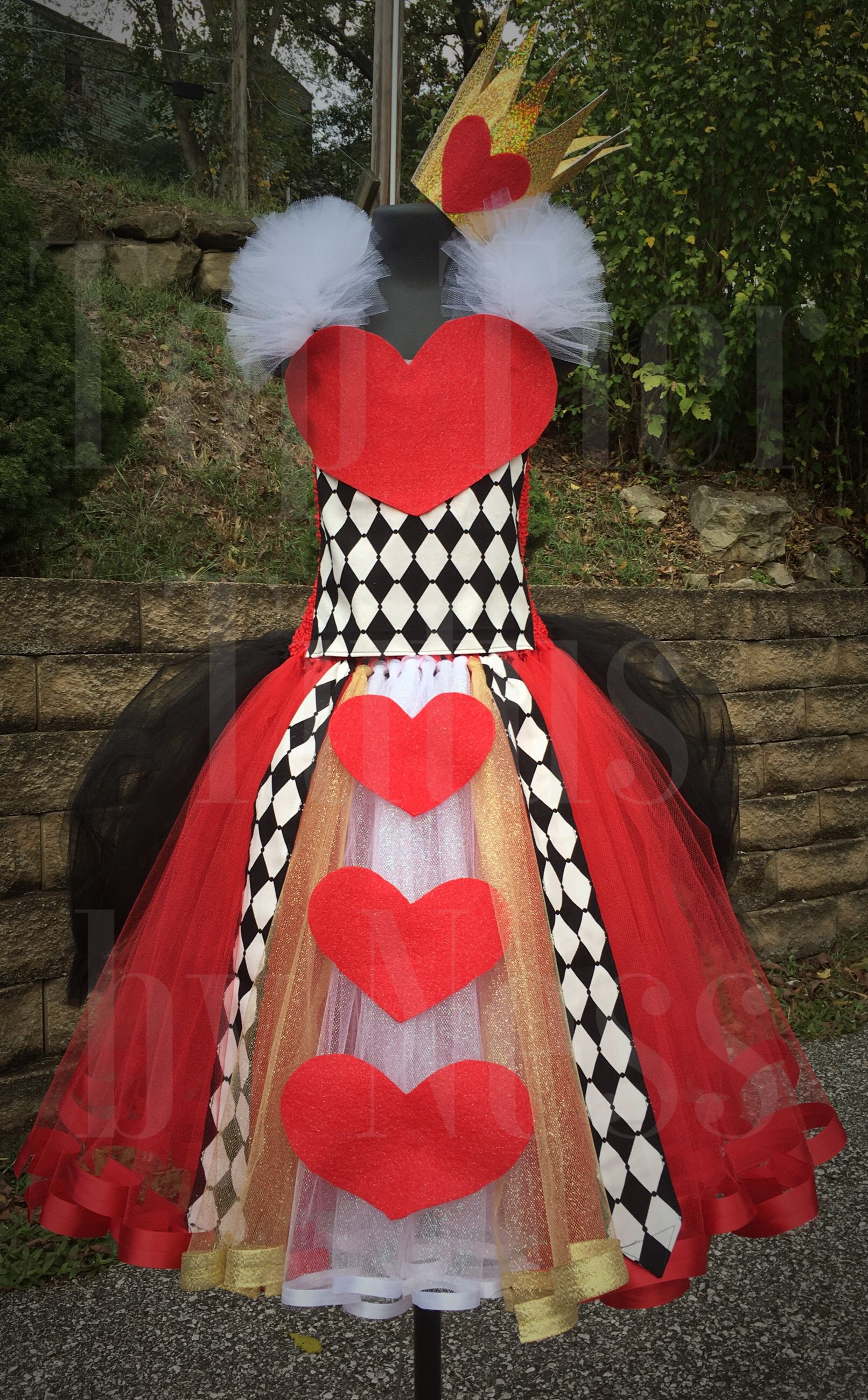 Queen of Hearts Tutu Costume (With images)   Hearts tutu