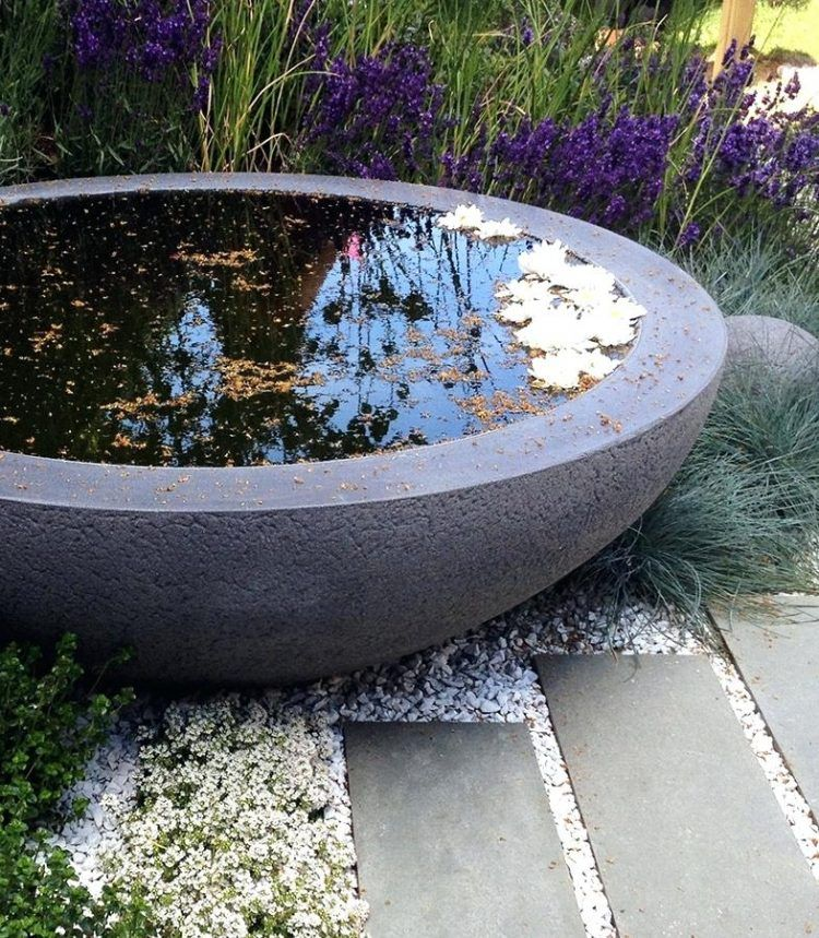 Diy Big Concrete Planters Making Large Concrete Planters Big Concrete Planters The Lily Bowl Garden Fountains Water Features In The Garden Small Gardens