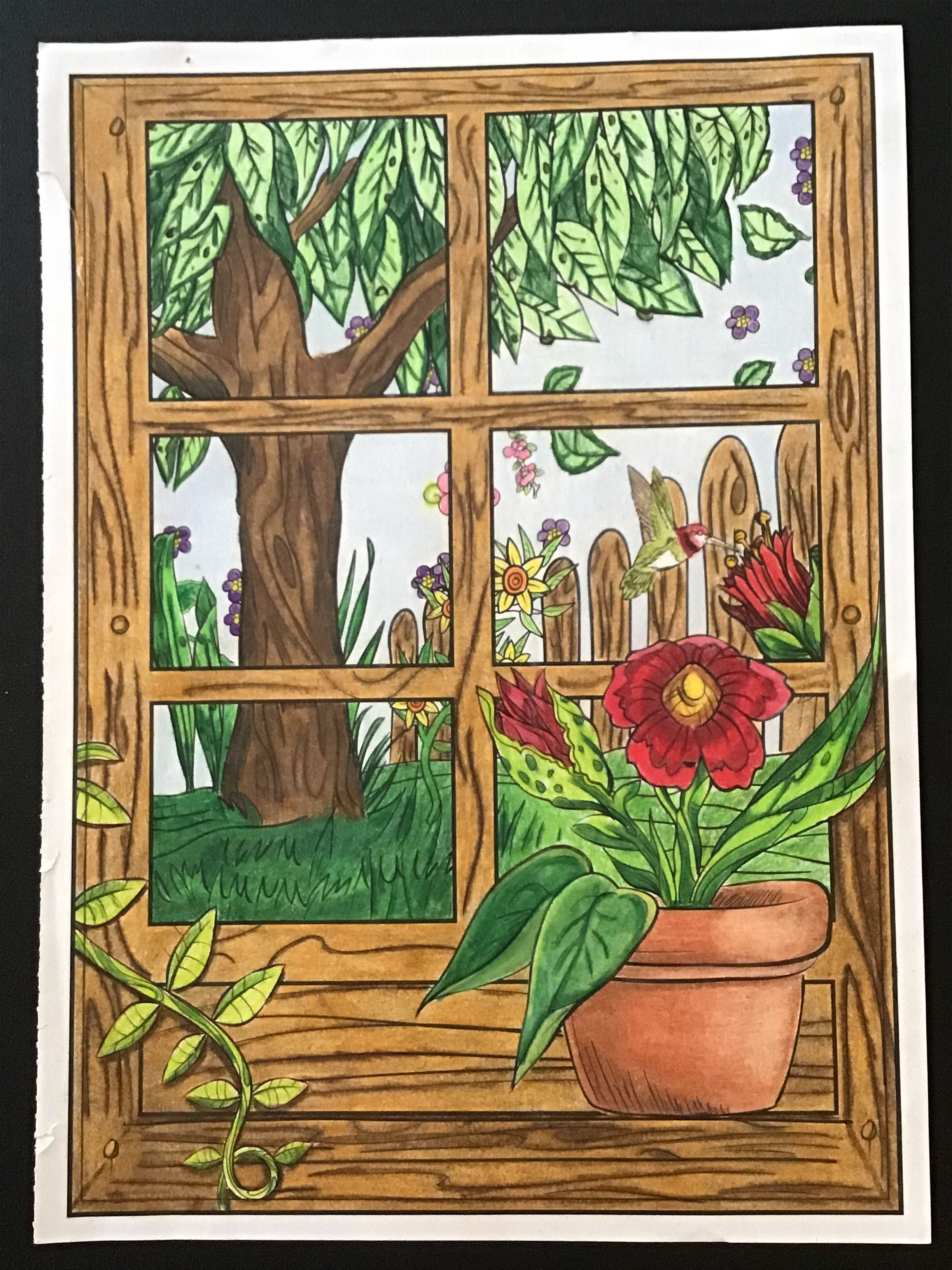 From Timeless Creations Magical Garden Coloring Book