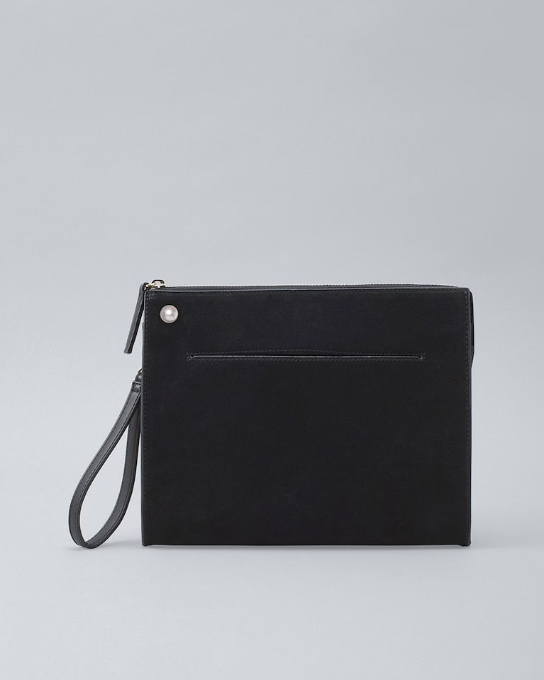2472857025c5 Women s Faux Pearl-Detail Leather Clutch by White House Black Market ...