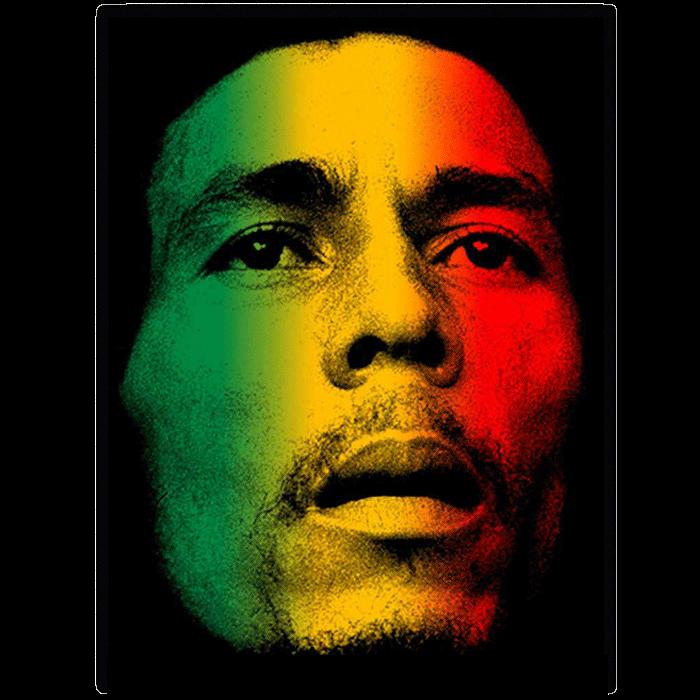 Bob Marley Face Micro Fleece Blanket Gambar Wallpaper Ponsel Desain