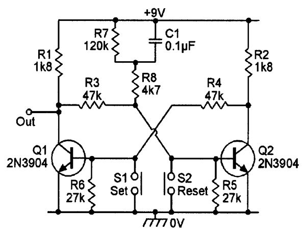 basic figure 15 circuit modified to give set action at
