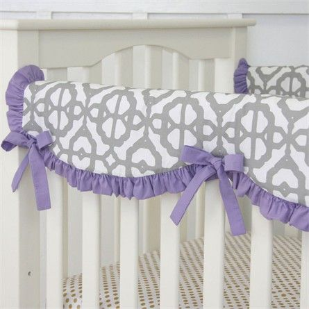 Rosenberry Rooms has everything imaginable for your child's room! Share the news and get $20 Off  your purchase! (*Minimum purchase required.) Purple Mod Lattice Crib Rail Cover #rosenberryrooms