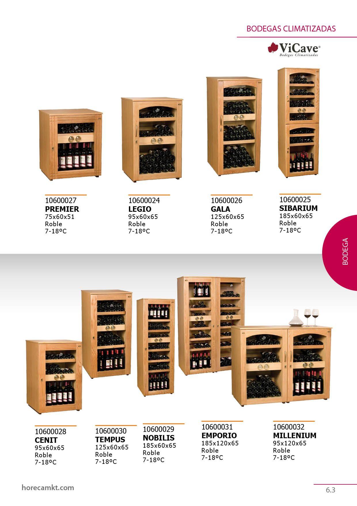 Bodegas climatizadas para bebidas de VICAVE. Especial vinos.