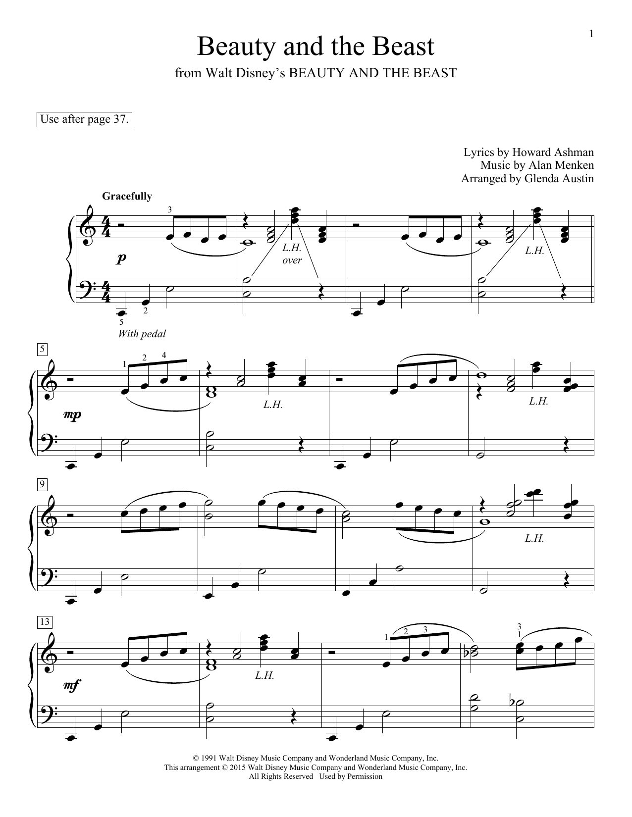 Insane image for beauty and the beast piano sheet music free printable