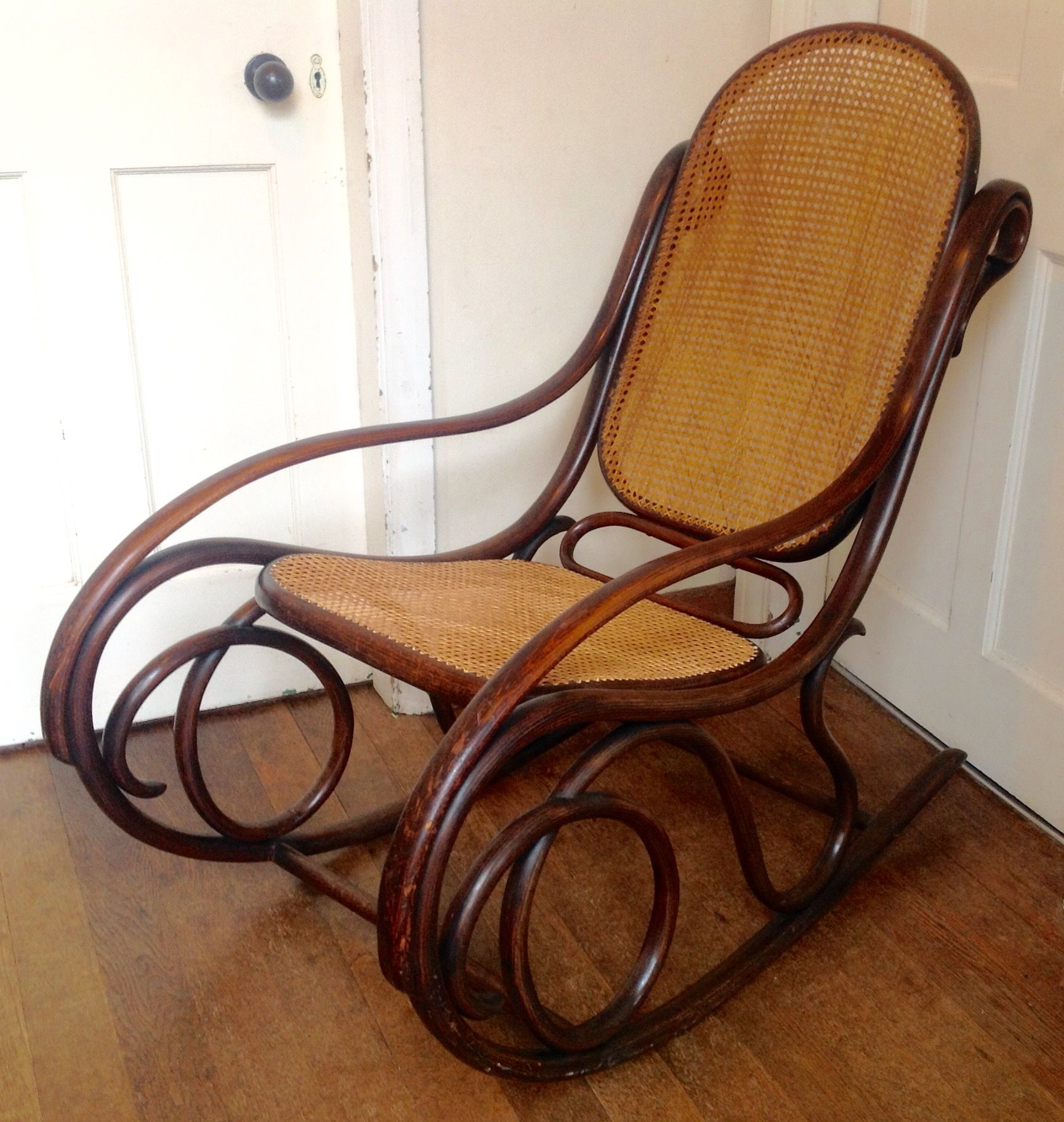 Amazing Rocking Chairs An Amazing Thonet Bentwood Rocking Chair No 6 In The