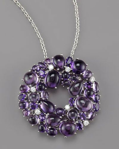 Roberto Coin, Amethyst and Diamond Necklace