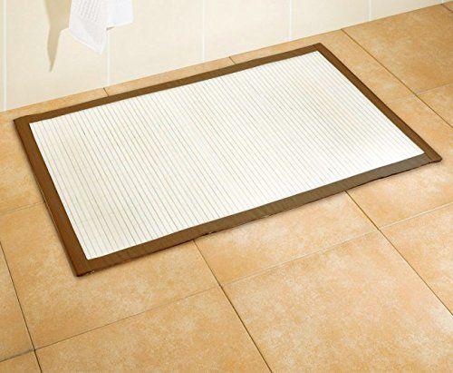 Badezimmerteppich Weiß ~ Wenko bambus badematte 50 x 80 cm badteppich badvorleger