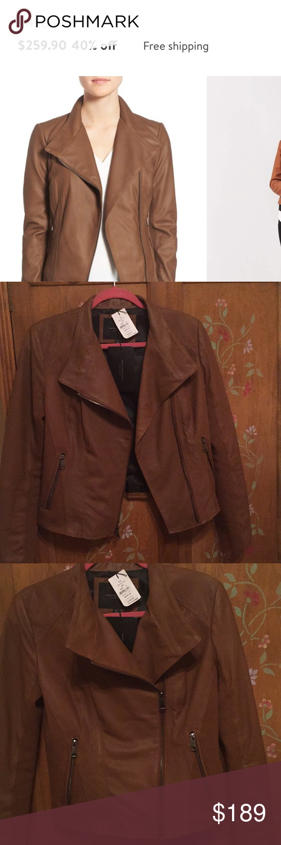 Andrew Marc leather jacket Brand new with tags leather